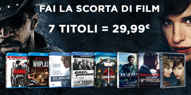 Amazon: Promo SALDI ESTATE per il catalogo Universal Pictures 7 titoli a 29,99 euro