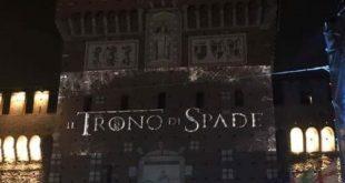 Il Trono di Spade – Sky ghiaccia la fontana antistante al Castello Sforzesco. Stanotte il primo episodio della nuova stagione