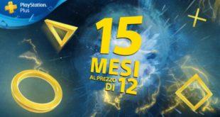 PlayStation Plus – Fino al 4 maggio, 15 mesi al prezzo di 12