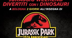 Jurassic Weekend – Un weekend all'insegna dei dinosauri in occasione del 25° anniversario