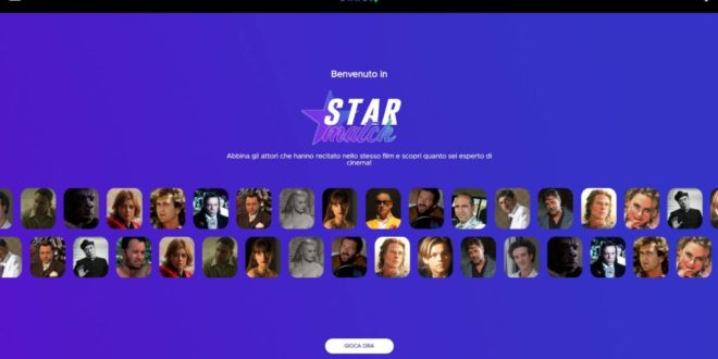 Infinity presenta Starmatch, il web game dedicato agli appassionati di cinema e non solo