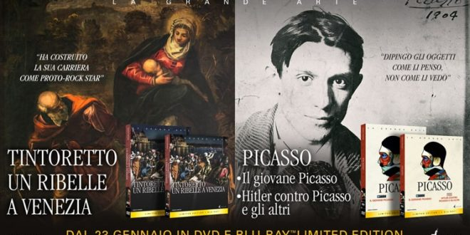 Tintoretto e Picasso in Bluray e DVD con Koch Media