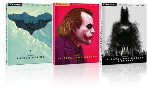 Il Cavaliero Oscuro – La Trilogia – Art Edition  in 4K Ultra HD e Blu-Ray