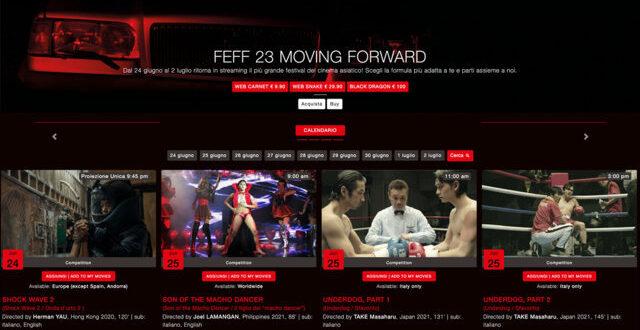 FEFF 23 ONLINE – La piattaforma che dal 24 giugno al 2 luglio, darà vita alla versione digitale del Far East Film